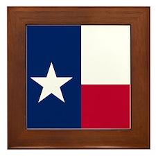 Cute Texan Framed Tile