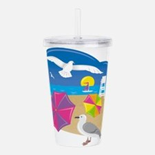 To beach Acrylic Double-wall Tumbler