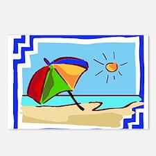 Unique Beach umbrella Postcards (Package of 8)