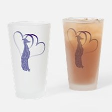 Whippet Hearts Drinking Glass