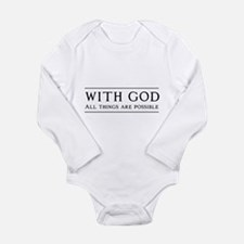 With God All Things Are Possible Body Suit