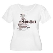 Shakespeare's Plays Plus Size T-Shirt