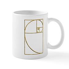Golden Ratio Sacred Fibonacci Spiral Mugs