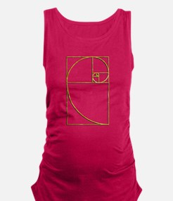 Golden Ratio Sacred Fibonacci Spiral Maternity Tan