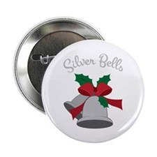 "Silver Bells 2.25"" Button"