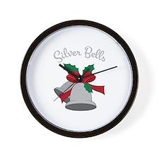 Silver Bells Wall Clock