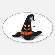 Spooky Witch Hat Decal
