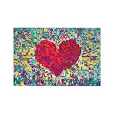 Cute Heart Rectangle Magnet