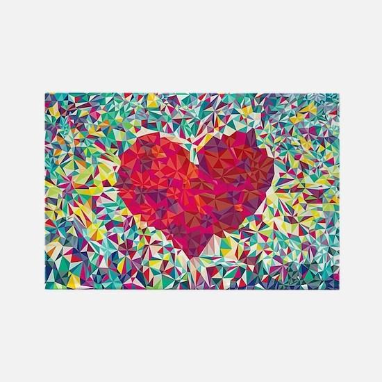 Unique Love Rectangle Magnet