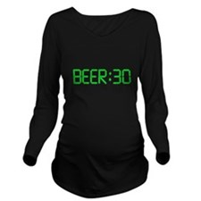 The Time Is Beer 30 Long Sleeve Maternity T-Shirt