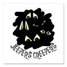 "Jeepers Creepers Square Car Magnet 3"" x 3"""