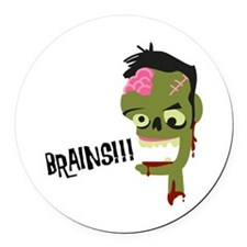 Brainsh! Round Car Magnet