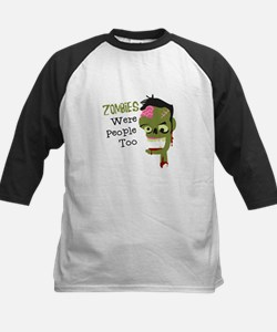 Zombies Were People Too Baseball Jersey