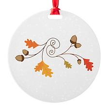 Leaves & Acorn Swirl Ornament