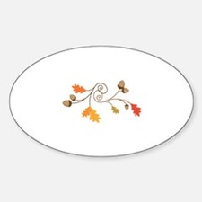 Leaves & Acorn Swirl Decal