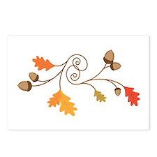 Leaves & Acorn Swirl Postcards (Package of 8)