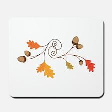 Leaves & Acorn Swirl Mousepad