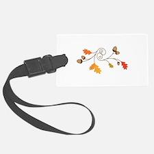 Leaves & Acorn Swirl Luggage Tag