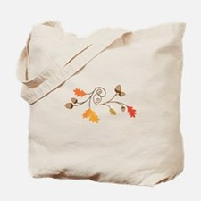 Leaves & Acorn Swirl Tote Bag