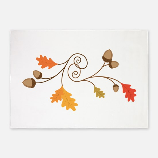 Leaves & Acorn Swirl 5'x7'Area Rug