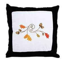 Leaves & Acorn Swirl Throw Pillow