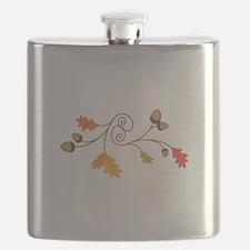 Leaves & Acorn Swirl Flask
