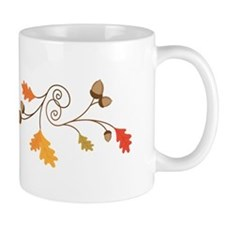 Leaves & Acorn Swirl Mugs