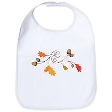 Leaves & Acorn Swirl Bib