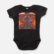 Red Meditation Baby Bodysuit
