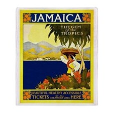 Jamaica, vintage travel poster Throw Blanket