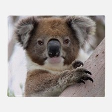 Funny Koala bear Throw Blanket