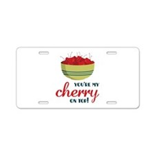 Cherry on Top Aluminum License Plate