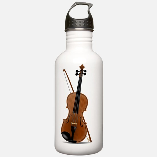 Beautiful Violin With  Water Bottle