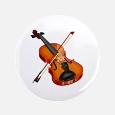 """Beautiful Violin and Bow Musical Instr 3.5"""" Button"""