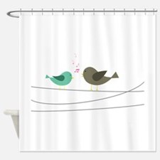 Singing Birds Shower Curtain
