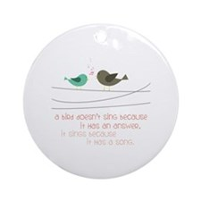 Sing a Song Ornament (Round)