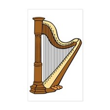 Harp Multi-String Musical Inst Decal