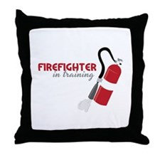 Firefighter in Training Throw Pillow