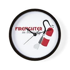 Firefighter in Training Wall Clock