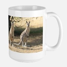 Kangaroos Lined Up in a Row Mugs