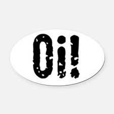 Oi! (Punk) Oval Car Magnet