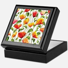 Floral Pattern Keepsake Box