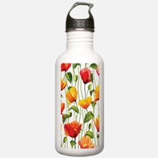Floral Pattern Water Bottle