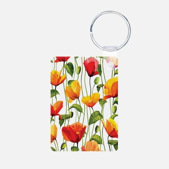 Floral Pattern Keychains