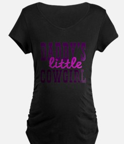 Cute Daddys Little Cowgirl Maternity T-Shirt