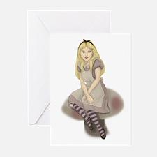 Wonderland Girl Greeting Cards (Pk of 10)