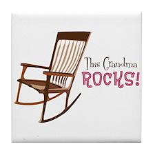 The Grandma Rocks! Tile Coaster