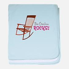 The Grandma Rocks! baby blanket