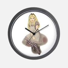 Wonderland Girl Wall Clock