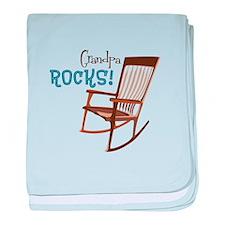 Grandpa Rocks! baby blanket
